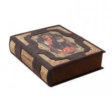 Библия в коробе из кожи