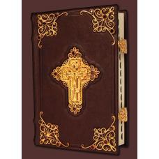 Библия с комментариями (с крестом обрамленным гранатами)