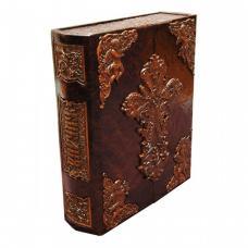 Библия -иконостас складень с деревянными вставками.